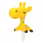 NA-23 Universal Cartoon Giraffe Style Audio Jack Anti-Dust Plug for Cell Phone - Yellow (3.5MM Plug)