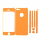 i-color Decorative Protective Full Body Stickers Set for Iphone 5 - Orange