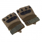 Stylish Tactical Protective PU Gloves - Army Green (Size XL / Pair)