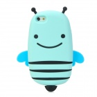 GOMI Cute Cartoon Bee Style Protective Silicone Back Case for Iphone 5 - Light Blue