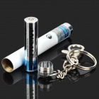 LZ-02Z 5mW Single Point Purple Beam Laser Pen Pointer w / Keychain - Silver + White (1 x AAA)