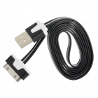 USB to 30-Pin Data/Charging Cable for iPhone 4 / 4S / iPod / iPad 1 / 2 / 3 - Black + White