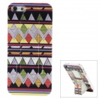 Geometric Pattern Plastic Back Case w/ Stand for Iphone 5 - Multicolored