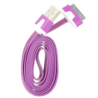 USB to 30-Pin Data/Charging Cable for iPhone 4 / 4S / iPod / iPad 1 / 2 / 3 - Purple + White