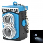 Unique Camera Style LED White Flashlight Keychain - Blue + Black + Silver (3 x AG10)
