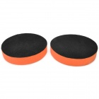 "5"" Self Adhesive Wax Polishing Sponge Pad - Orange + Black (2 PCS)"