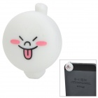 Cartoon Rabbit with Funny Face Style Audio Jack Anti-Dust Plug for iPhone 5 - White (3.5MM Plug)