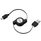 Retractable USB to Mini-USB Data Cable (74cm-Length)
