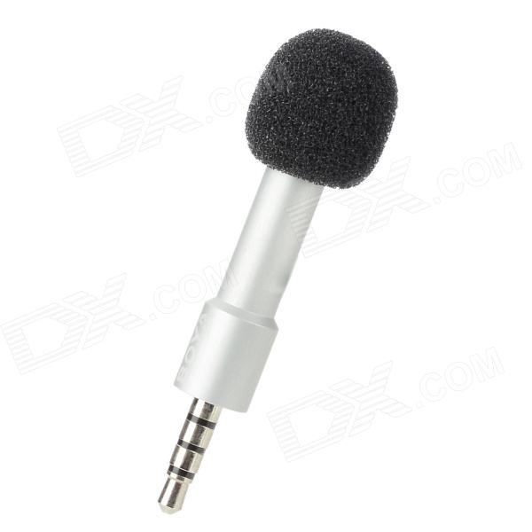 BOYA BY-A01 3.5mm Omni-Directional Recording Condenser Microphone for Iphone / Ipad - Silver