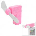Creative 30-Pin Connector Mini 2-Blade Cooling Fan for iPhone 3G / 3GS / 4 / 4S - Pink