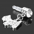 Stilvolle Dog Stil Strass Audio Jack Anti-Staub-Stecker für iPhone 4 / 4S - Silber (3,5 mm Klinkenstecker)