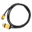 Micro HDMI to HDMI Shielded High Definition Connecting Cable - Golden + Black (150cm)