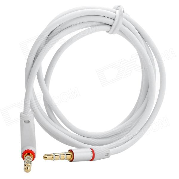 Universal 3.5mm Jack Male to Male Shielded Audio Cable - White + Red (120cm) 3 5mm male to male audio connection nylon cable white red black 1m