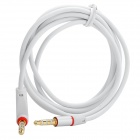 Universal 3.5mm Jack Male to Male Shielded Audio Cable - White + Red (120cm)
