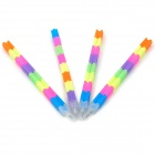 Creative Bullet Style Building Block Pencils - Multicolored (4 PCS)