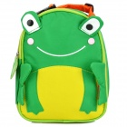 SUN-RISING QINGWA02 Cartoon Frog Style Canvas Lunch Shoulder Bag for Kids - Green + Yellow