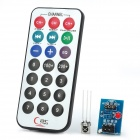 Infrared Remote Control Module +HX1838  Receiver + NEC Coded Infrared Remote Control Set (1xCR2025)