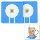81500 Envelope Style ECO + PVC Heat Isolating / Insulated Cup Pad - Blue + White + Yellow (2 PCS)