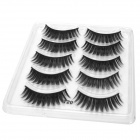 T20 Black False Eyelashes for Beauty Makeup - Black (10 PCS)