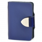 Fashionable Paint Artificial Leather Card Bag - Deep Blue