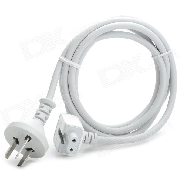 Plástico 3-flat-pin Cable 45W / 60W / 65W / 85W Plug Power Adapter for Apple MacBook - blanco