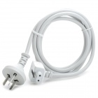 Plastic 45W / 60W / 65W / 85W 3-flat-pin Plug Power Adapter Cable for Apple MacBook - White