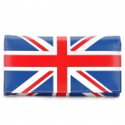 Flag of UK Pattern Fashionable PU Clutch Purse - Red + Blue + White