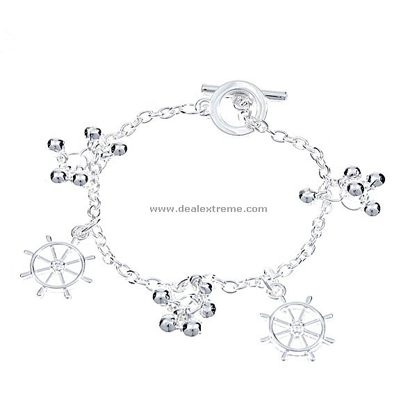 Ship Themed 925 Sterling Silver Bracelet (Stir)
