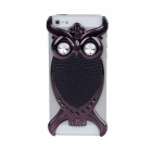Fashionable Owl Style Protective Back Case for Iphone 5 - Black