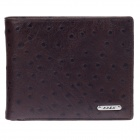 BEIDIERKE B016-918 Ostrich Pattern High-Grade Head Layer Cowhide Wallet- Brown
