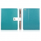 ENKAY ENK-3136 Crazy Horse Texture PU Leather Case Stand for Ipad 2 / 3 / 4 - Turquoise