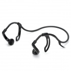 Universal Sporty Ear Hook Style 3.5mm Jack Earphone Headset - Black (109cm)