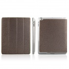 ENKAY ENK-3137 Protective PU Leather Case Stand for Ipad 2 / 3 / 4 - Brown
