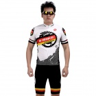 INBIKE Bicycle Cycling Short Sleeves Jersey + Shorts Set - White + Black (Size L)