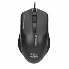 USB 2.0 Wired Red Laser 3200/2400/1600/800dpi Gaming Mouse - Black