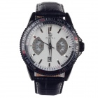 ORKINA P0028 Fashionable Men's Quartz Wrist Watch + Simple Calendar - Black + White (1 x LR626)
