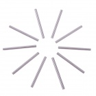 Replacement Aluminum Alloy 3.17mm Shaft for Brushless Outrunner Motor - Silver (10 PCS)
