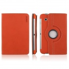 ENKAY ENK-7010 Cowboy Pattern Protective PU Leather Case for Samsung Galaxy P3100 / P3110 - Orange