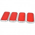 Car Vehicle Safety Warning Reflective Stickers - Red + Silver (4 PCS)