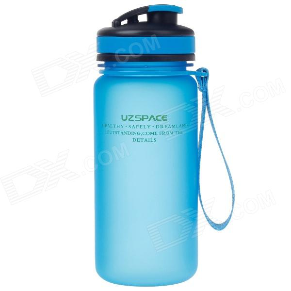 UZSPACE High-Quality Leak-Proof Frosted Colorful Bottle w/ Elastic Cover - Blue (550mL)