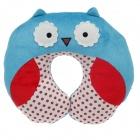 Cute Owl Style U Type Neck Pillow - Blue + Red + Ivory