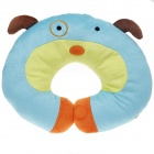 Cute Dog Style U Type Neck Pillow - Light Green + Blue + Orange