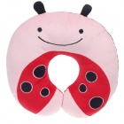Cute Ladybug Style U Type Neck Pillow - Red + Pink + Black