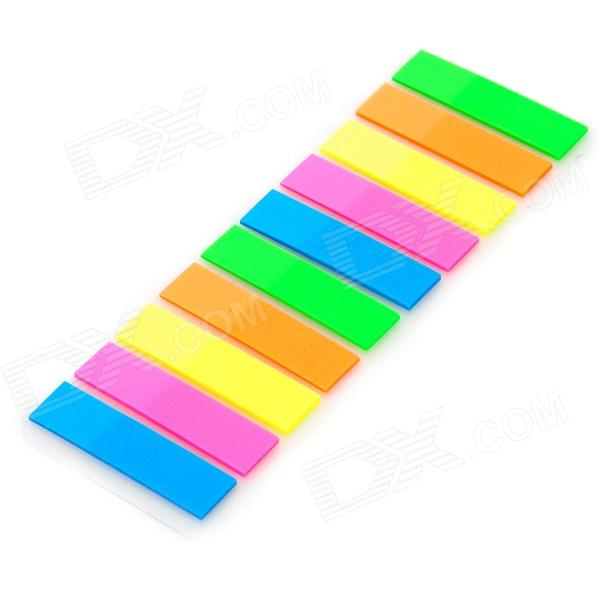 Mu0026G YS 22 PET Office / School Fluorescent Highlight Self Adhesive Stickers    Multicolored (200 PCS)