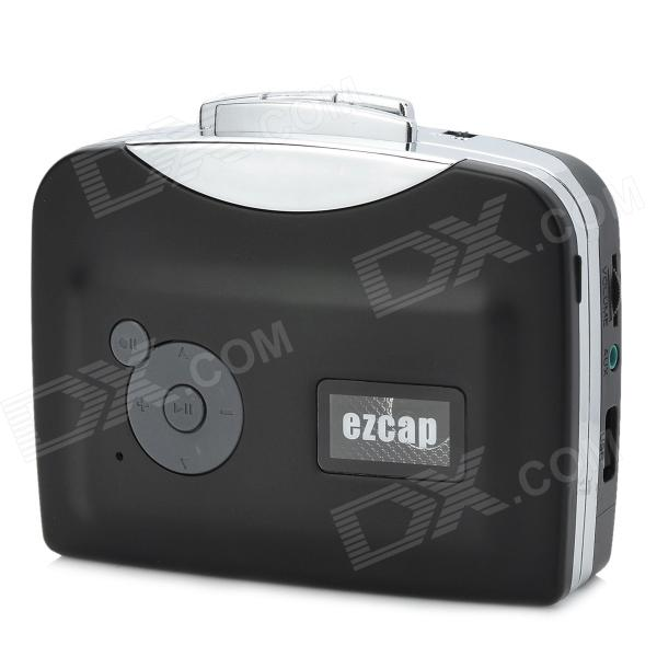 Ezcap230 Convenient Cassette Tape to MP3 USB Flash-drive Hot Swapping Converter - Black