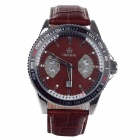 ORKINA P0028 Fashionable Men's Analog Quartz Wrist Watch + Simple Calendar - Brown (1 x LR626)