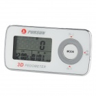 "XYT-1 1.3"" LCD Digital 3D Acceleration Pedometer - White (1 x CR2032)"