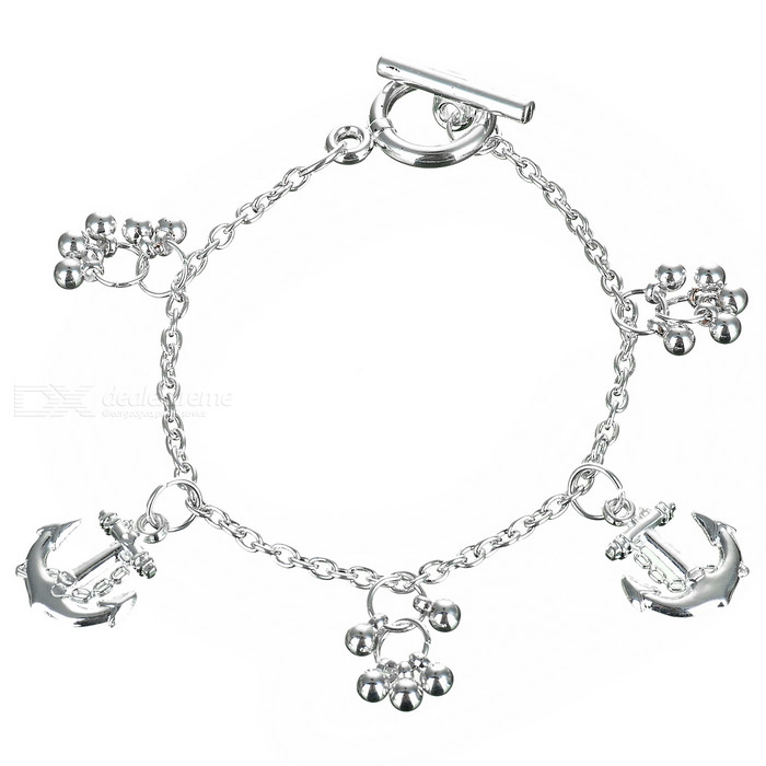 Ship Themed 925 Sterling Silver Bracelet (Anchor)