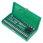 "Pro'skit SK-23801M 1/4"" Screwdriver Socket Tool Set - Green (38 PCS)"