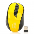 Jiayibing S5 2,4 GHz USB 2.0 1600dpi Wireless Optical Mouse - Gelb + Schwarz